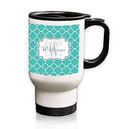 Carved Solutions Moroccan Travel Mug in Blue