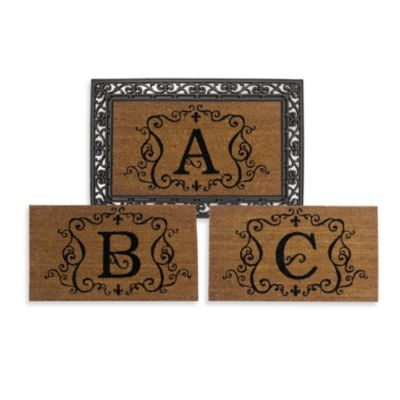 Rubber Door Mat Frame And Monogram Inserts Bed Bath And
