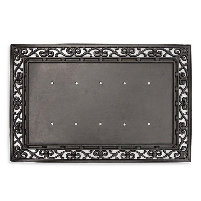 Rubber 24 Inch X 36 Inch Door Mat Frame In Black Bed
