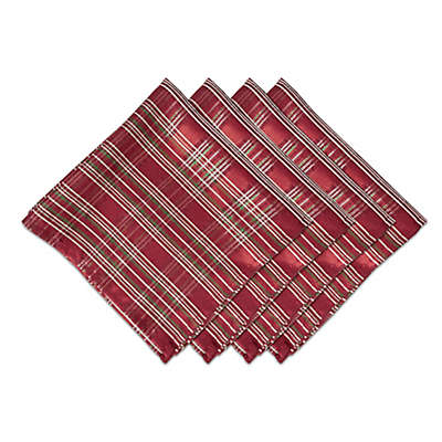 Bardwil Linens Christmas Plaid Napkins (Set of 4)