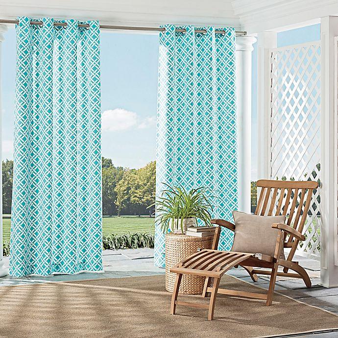 Parasol St Kitts Indoor Outdoor Grommet Top Window Curtain Panel