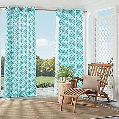 Parasol St. Kitts Indoor/Outdoor Grommet Top Window Curtain Panel