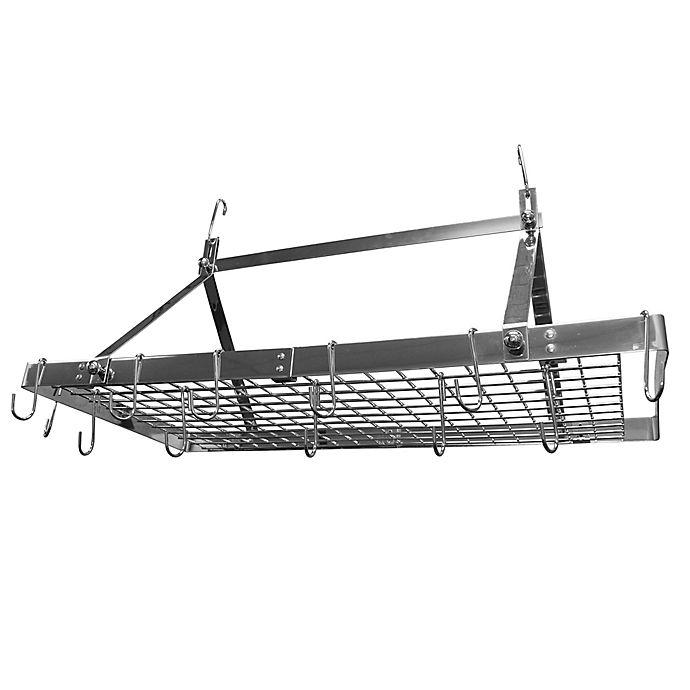 Alternate image 1 for Range Kleen® 34-Inch Rectangular Hanging Pot Rack