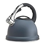 Epicurious 2.85 qt. Stainless Steel Whistling Tea Kettle in Grey