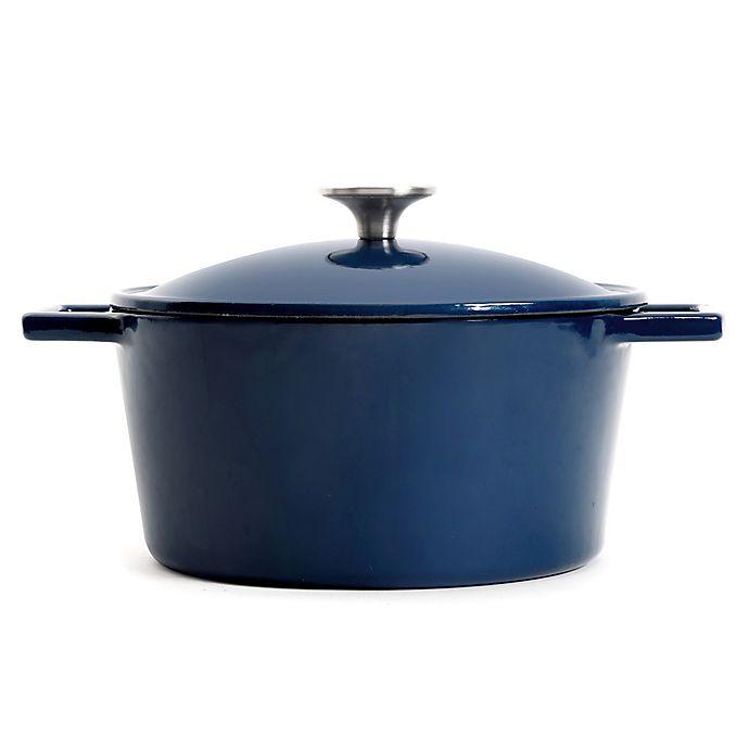 Alternate image 1 for Artisanal Kitchen Supply™ 3.5 qt. Enameled Cast Iron Dutch Oven in Blue