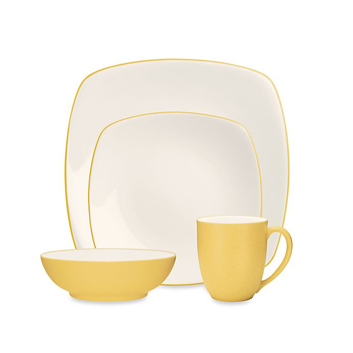 Alternate image 1 for Noritake® Colorwave Square 4-Piece Place Setting in Mustard