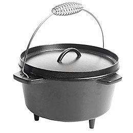 Artisanal Kitchen Supply® 6 qt. Cast Iron Casserole in Black with Wire Handle