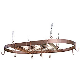 Range Kleen® 32.25-Inch Oval Hanging Pot Rack in Copper