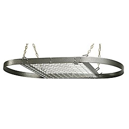 Range Kleen® Oval Hanging Pot Rack in Grey Hammered