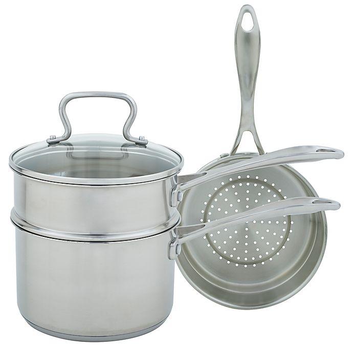 Alternate image 1 for Range Kleen® Stainless Steel 4-Piece Sauce Pan Set