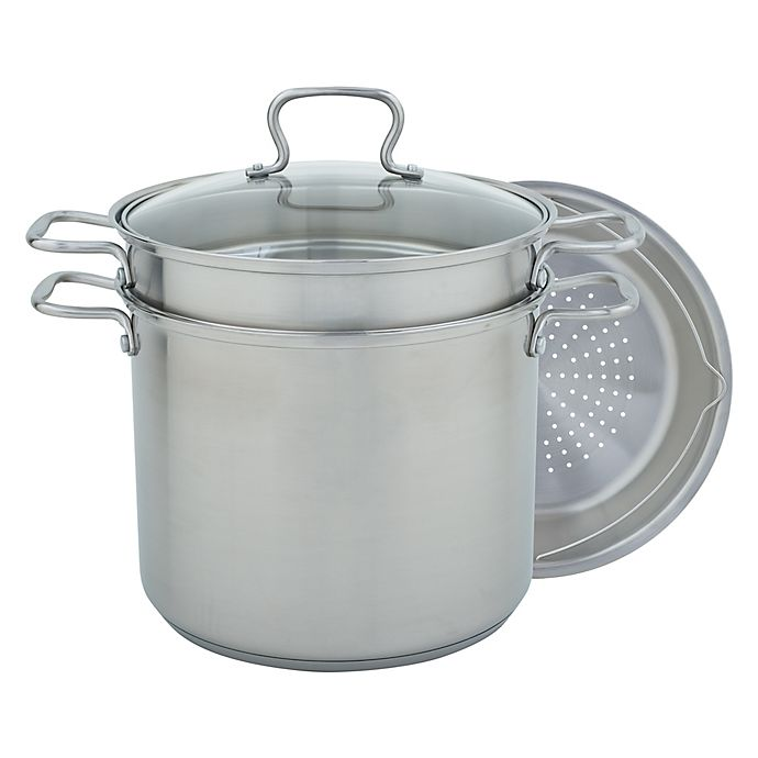 Alternate image 1 for Range Kleen® Specialty 12 qt. Covered Stainless Steel Multicooker
