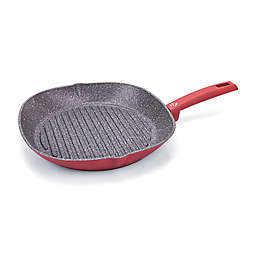 Moneta Riviera Nonstick 11.5-Inch Open Grill Pan in Red