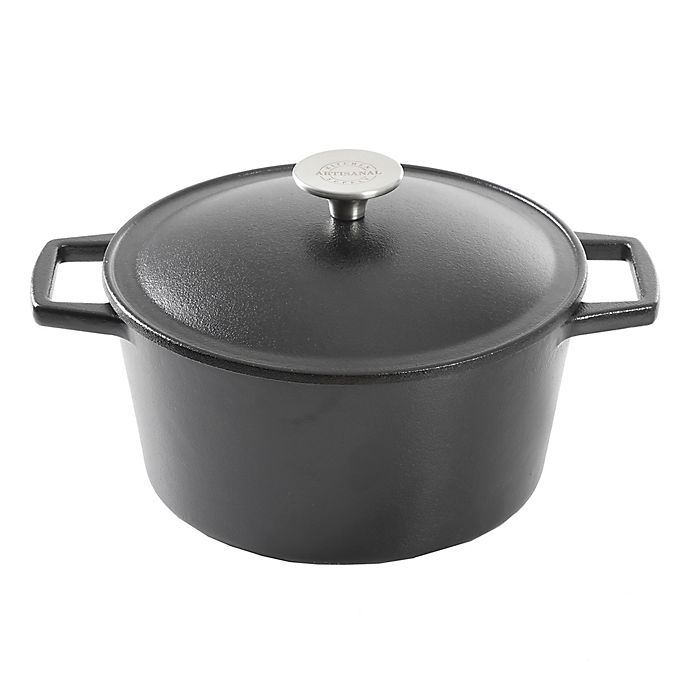Alternate image 1 for Artisanal Kitchen Supply® Pre-Seasoned Cast Iron 3.5 qt. Dutch Oven in Black