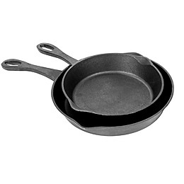 Bayou Classic® Cast Iron 2-Piece Skillet Set