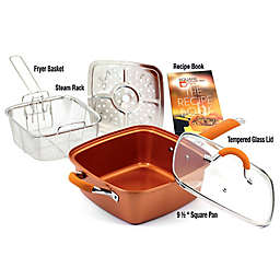 5-Piece Square Covered Copper Pan Pro