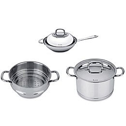 BergHOFF® Collect n Cook Stainless Steel 5-Piece Vegetable Stir Fry Cookware Set