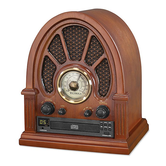 Alternate image 1 for Victrola™ Bluetooth Radio With CD Player in Brown