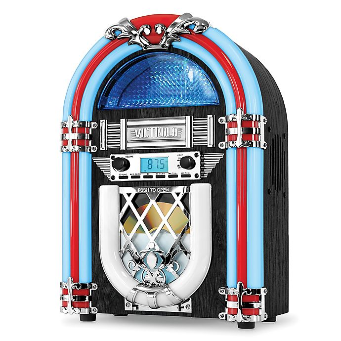Victrola™ Bluetooth Countertop Jukebox in Silver | Bed Bath & Beyond