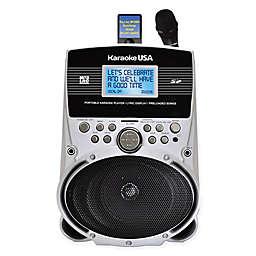 Karaoke USA Portable MP3 Karaoke Player with Screen in Silver