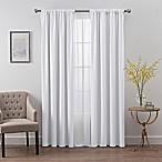 SmartBlock™ Chroma 72-Inch Rod Pocket Blackout Window Curtain Panel in White