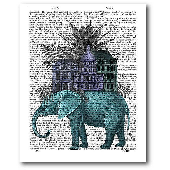 Alternate image 1 for Courtside Market Elephant Citadel 16-Inch x 20-Inch Canvas Wall Art