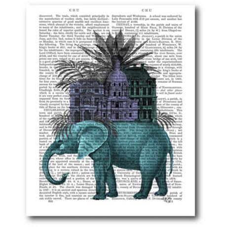 Courtside Market Elephant Citadel 16-Inch x 20-Inch Canvas Wall Art