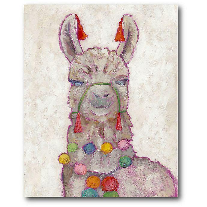 Alternate image 1 for Courtside Market Festival Llama 16-Inch x 20-Inch Canvas Wall Art