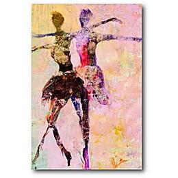 Courtside Market Ballerina 12-Inch x 18-Inch Canvas Wall Art