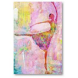 Courtside Market Ballerina Ballerina 12-Inch x 18-Inch Canvas Wall Art