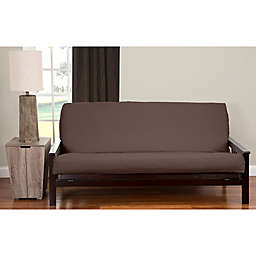 PoloGear Queen Faux Camelhair Futon Cover in Coffee