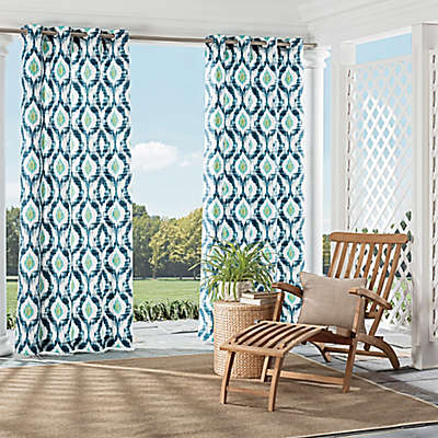 Parasol Barbados Grommet Top  Indoor/Outdoor Window Curtain Panel
