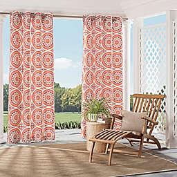 Parasol Cayman Indoor/Outdoor Grommet Top Window Curtain Panel