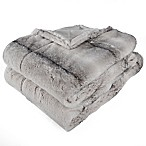 Berkshire Blanket Audrey Faux Fur Throw Blanket in Grey