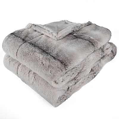 Berkshire Blanket Audrey Faux Fur Throw Blanket in Grey