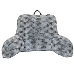 Crystal Faux Fur Backrest in Grey