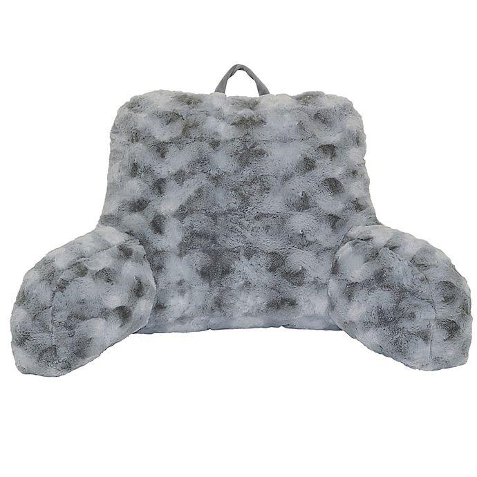 Alternate image 1 for Crystal Faux Fur Backrest in Grey
