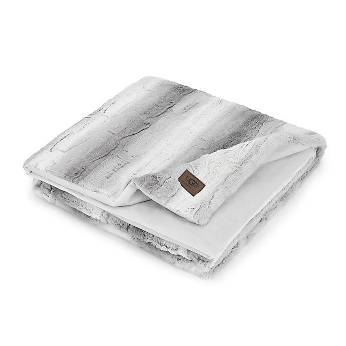 a5572ceb70a1 UGG® Dawson Stripe Faux Fur Throw Blanket in Grey