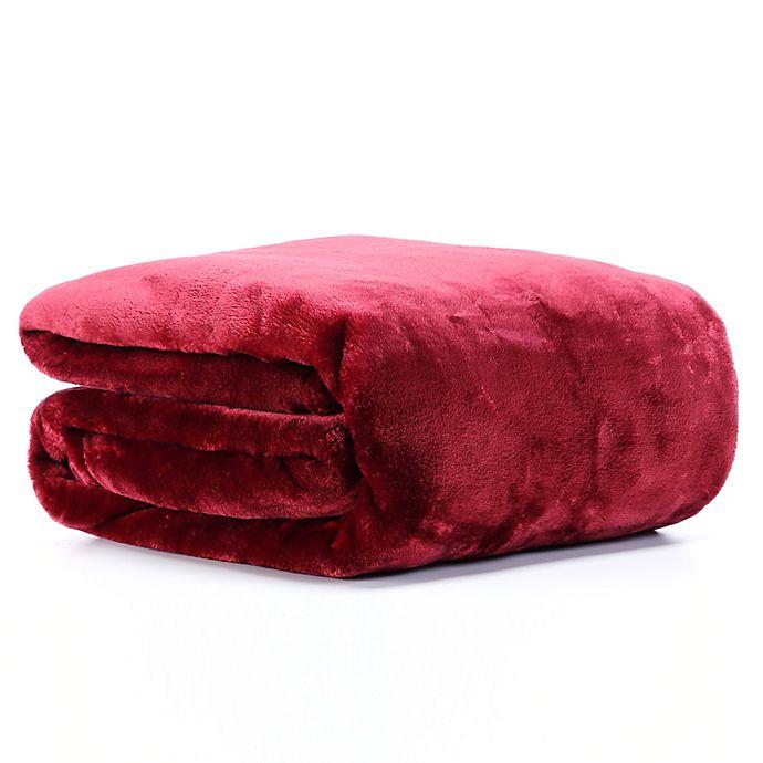 Alternate image 1 for VelvetLoft® Plush Throw Blanket in Claret
