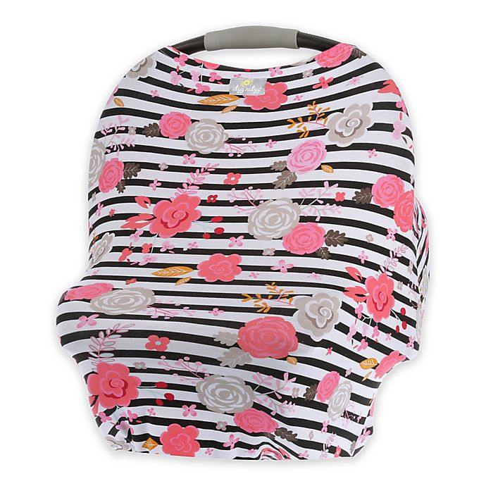 Alternate image 1 for Itzy Ritzy® Mom Boss™ Multi-Use Cover in Floral Stripe