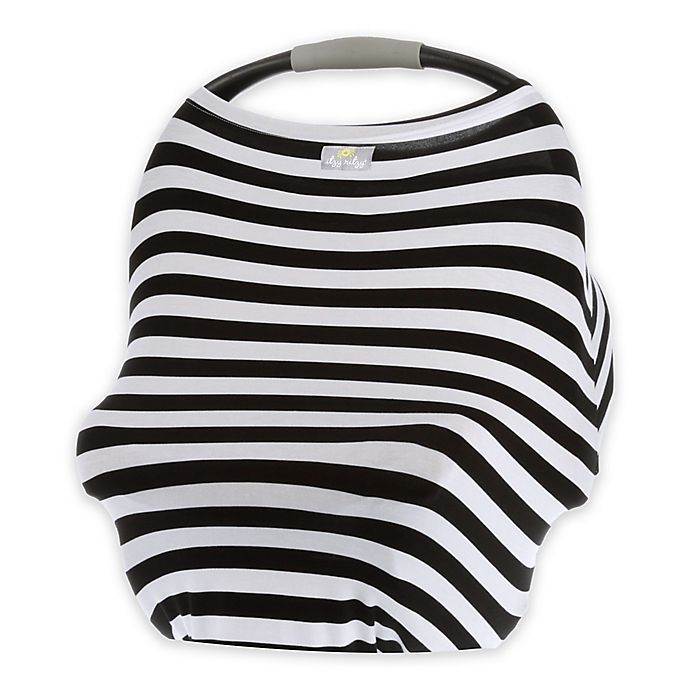 Alternate image 1 for Itzy Ritzy® Mom Boss™ Multi-Use Cover in Black and White Stripe