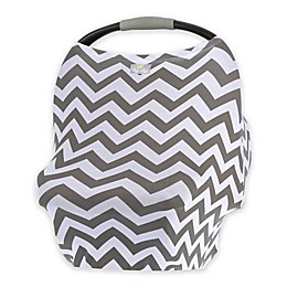 Itzy Ritzy® Mom Boss™ Multi-Use Cover in Grey Chevron