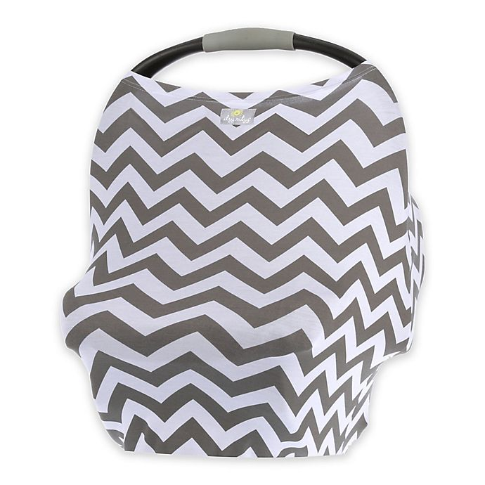 Alternate image 1 for Itzy Ritzy® Mom Boss™ Multi-Use Cover in Grey Chevron