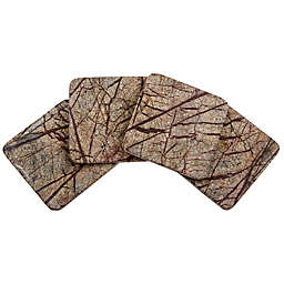 Thirstystone® Rainforest Marble Single Square Coaster in Brown