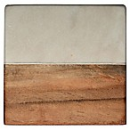 Thirstystone® White Marble and Acacia Single Square Coaster