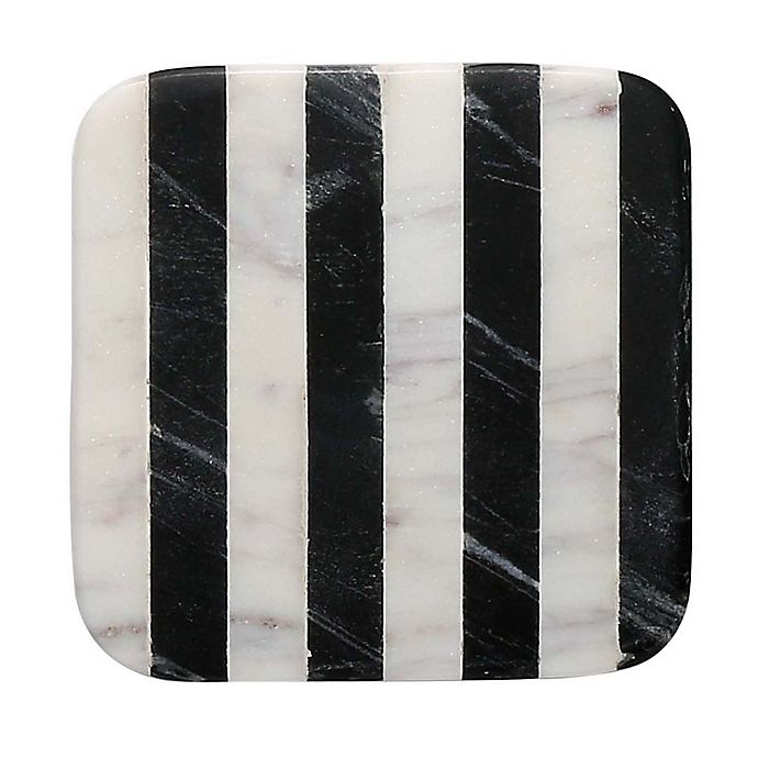 Thirstystone 174 Striped Marble Single Square Coaster In