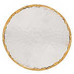 Thirstystone® Hammered Single Round Coaster in Silver/Gold