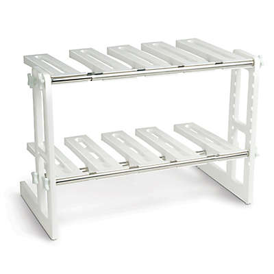 IdeaWorks Adjustable Under Sink Shelf in White/Silver