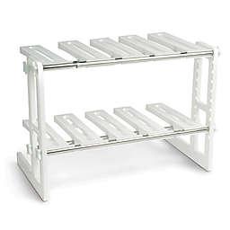 IdeaWorks Adjustable Under Sink Shelf in White/Silver