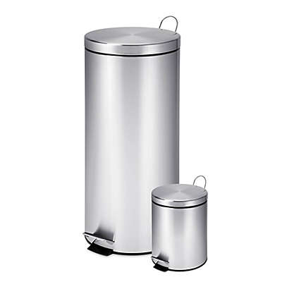 Honey-Can-Do® 30-Liter and 3-Liter Stainless Steel Trash Can Combo