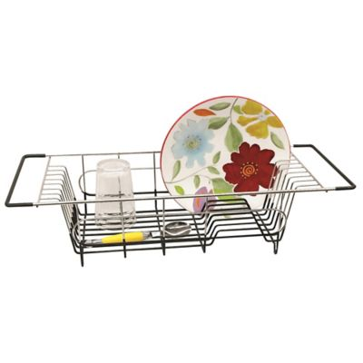 Stainless Steel Over The Sink Dish Drainer Bed Bath And